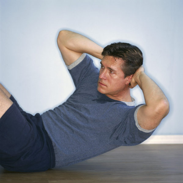 Man Doing Sit-ups ca. 2002