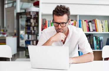 man-thinking-computer